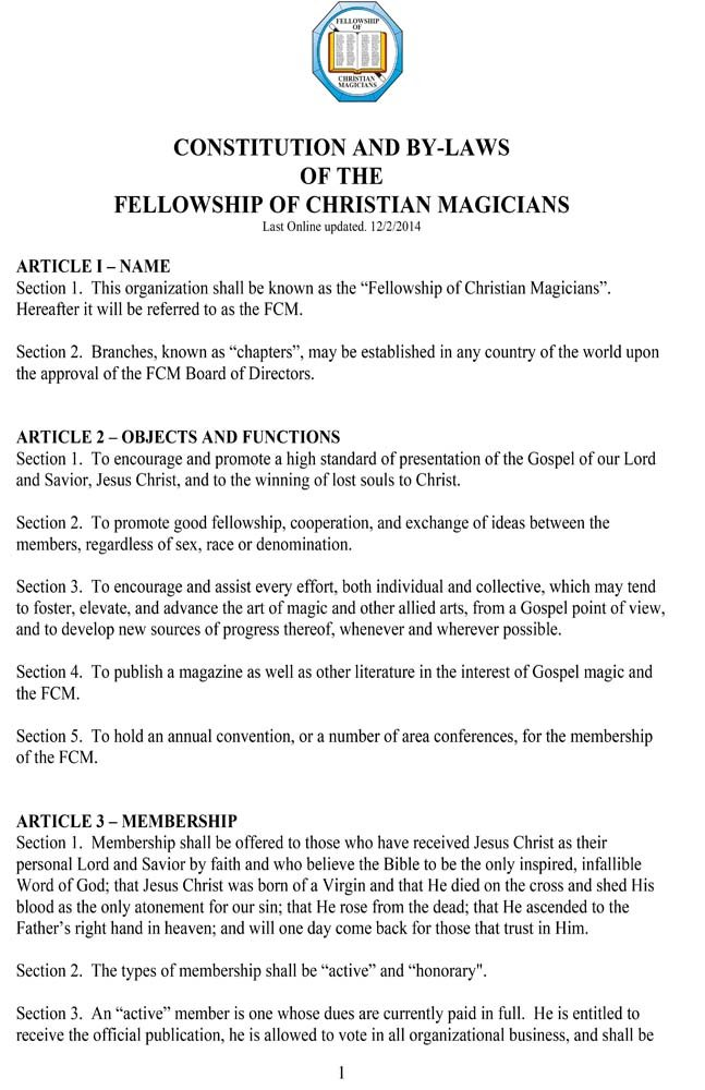 FCM Constitution ByLaws