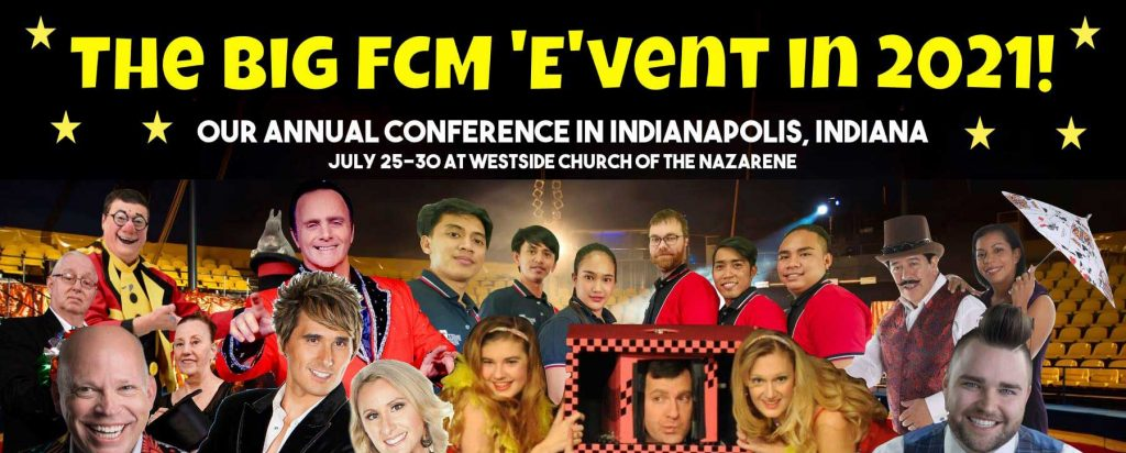 "The Big ""E""vent in 2021! Our annual conference in Indianapolis, Indiana, July 25-30 at Westside Church of the Nazarene."
